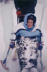 Jennifer skiing