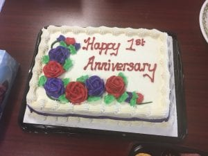 Cake to celebrate 1st Anniversary of Employment Support Group