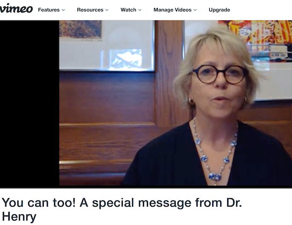 screenshot Dr Bonnie Henry encouraging everyone to get vaccinated